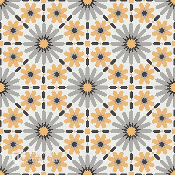 Gạch bông CTS 19.8(4-6-9-13) - 16 viên - Encaustic cement tile CTS 19.8(4-6-9-13)-16 tiles