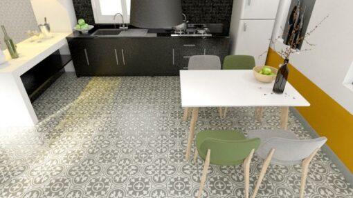 Gạch bông cts 2.7 lát nền nhà bếp