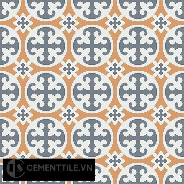 Gạch bông CTS 4.8(4-33-34) - 16 viên - Encaustic cement tile CTS 4.8(4-33-34)-16 tiles