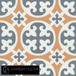 Gạch bông CTS 4.8(4-33-34) - 4 viên - Encaustic cement tile CTS 4.8(4-33-34)-4 tiles