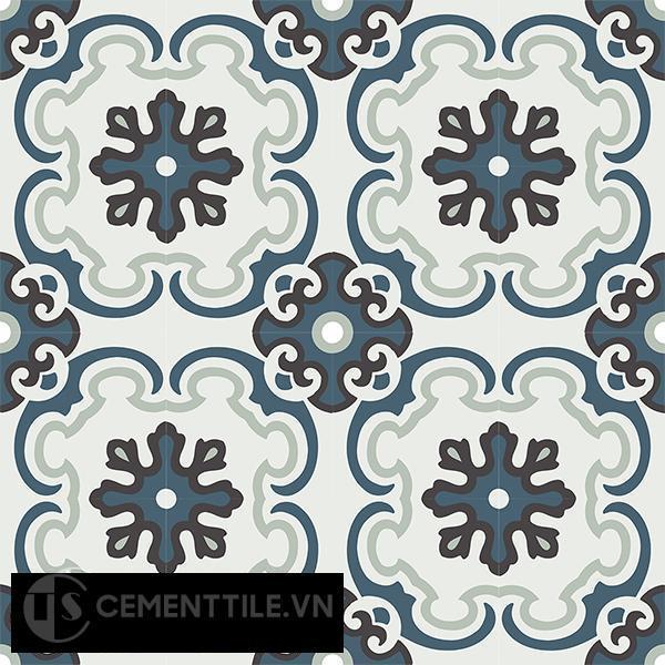 Gạch bông CTS 5.8(1-4-13-26) - 16 viên - Encaustic cement tile CTS 5.8(1-4-13-26)-16 tiles