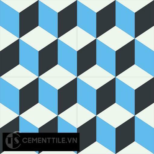 Gạch bông CTS 8.8(4-8-13) - 4 viên - Encaustic cement tile CTS 8.8(4-8-13)-4 tiles