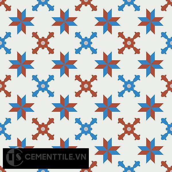 Gạch bông CTS 93.1(4-8-9-30) - 16 viên - Encaustic cement tile CTS 93.1(4-8-9-30)-16 tiles