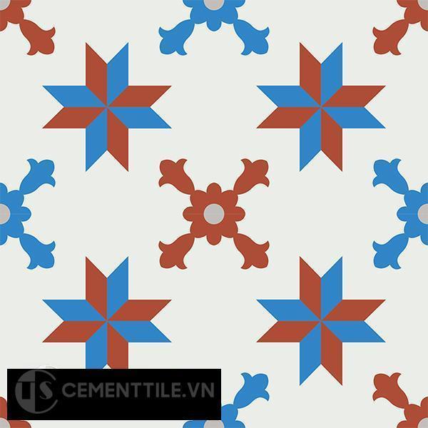 Gạch bông CTS 93.1(4-8-9-30) - 4 viên - Encaustic cement tile CTS 93.1(4-8-9-30)-4 tiles