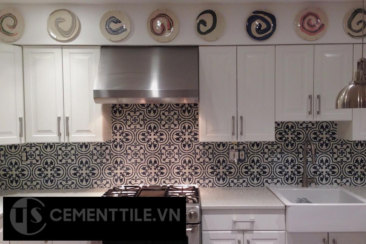 Gạch bông trang trí nhà bếp