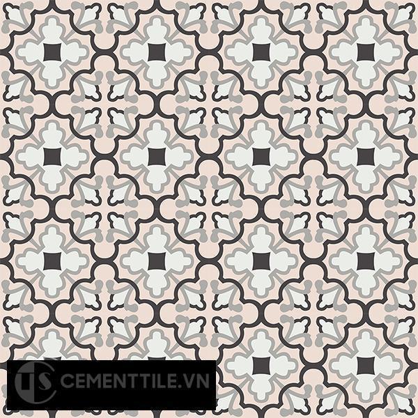 Gạch bông CTS 103.1(4-9-13-27) - 16 viên - Encaustic cement tile CTS 103.1(4-9-13-27)-16 tiles