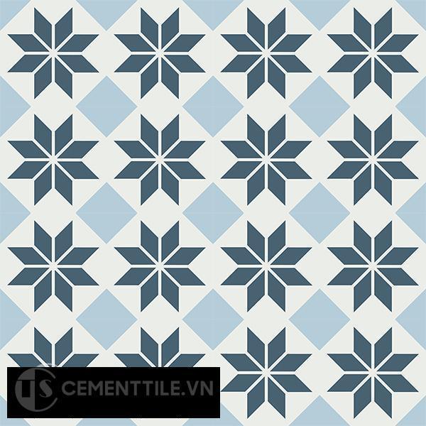 Gạch bông CTS 105.1(1-2-4) - 16 viên - Encaustic cement tile CTS 105.1(1-2-4)-16 tiles