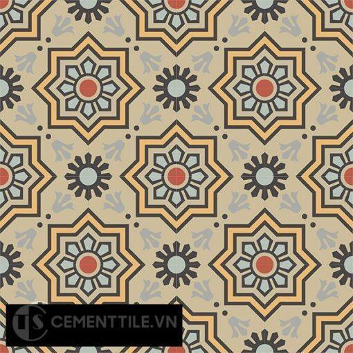 Gạch bông CTS 113.8(5-6-9-13-26-130) - 16 viên - Encaustic cement tile CTS 113.8(5-6-9-13-26-130)-16 tiles