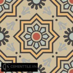 Gạch bông CTS 113.8(5-6-9-13-26-130) - 4 viên - Encaustic cement tile CTS 113.8(5-6-9-13-26-130)-4 tiles