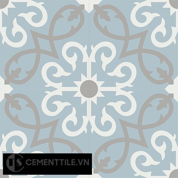 Gạch bông CTS 127.3(4-9-29) - 4 viên - Encaustic cement tile CTS 127.3(4-9-29)-4 tiles
