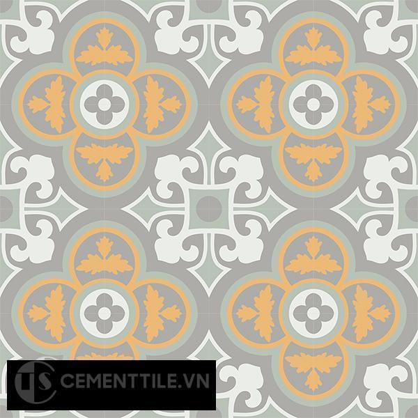 Gạch bông CTS 129.5(4-6-9-26) - 16 viên - Encaustic cement tile CTS 129.5(4-6-9-26)-16 tiles
