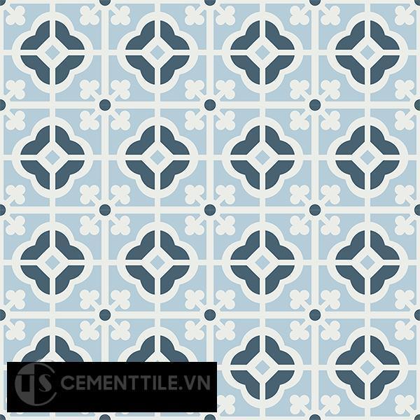 Gạch bông CTS 137.1(1-2-4) - 16 viên - Encaustic cement tile CTS 137.1(1-2-4)-16 tiles