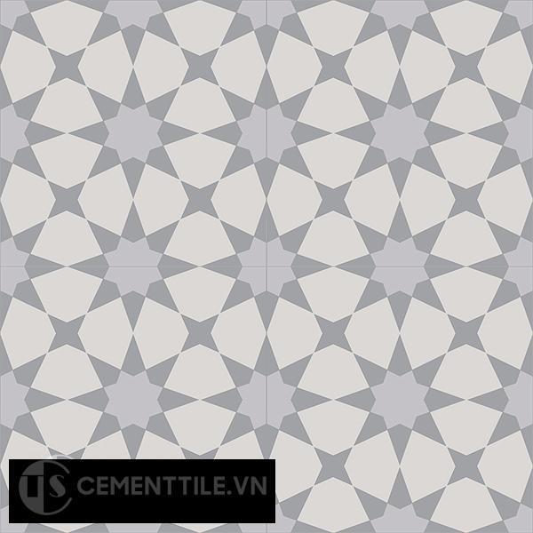 Gạch bông CTS 141.3(9-27-50) - 4 viên - Encaustic cement tile CTS 141.3(9-27-50)-4 tiles