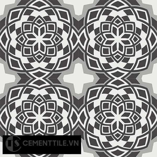 Gạch bông CTS 146.1(4-9-13) - 16 viên - Encaustic cement tile CTS 146.1(4-9-13)-16 tiles