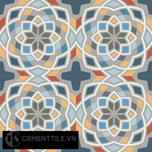 Gạch bông CTS 146.2(1-2-3-4-5-6-8-9-10-32) - 16 viên - Encaustic cement tile CTS 146.2(1-2-3-4-5-6-8-9-10-32)-16 tiles