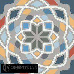 Gạch bông CTS 146.2(1-2-3-4-5-6-8-9-10-32) - 4 viên - Encaustic cement tile CTS 146.2(1-2-3-4-5-6-8-9-10-32)-4 tiles