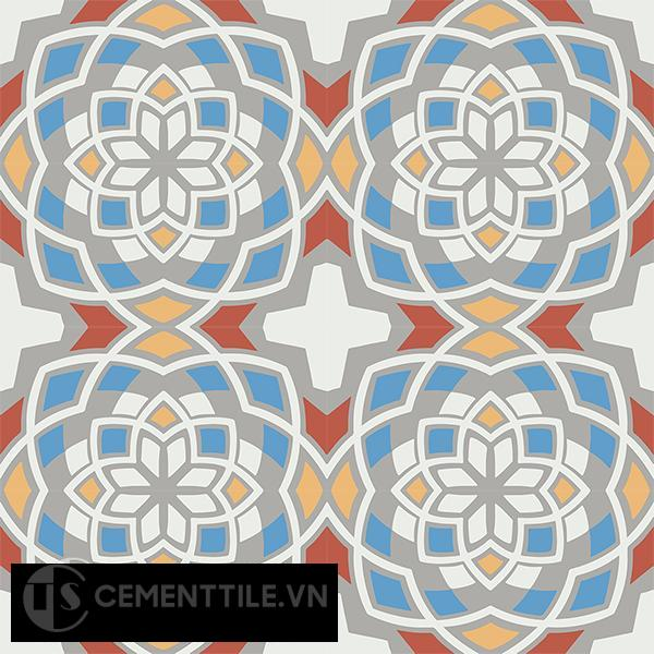 Gạch bông CTS 146.3(4-5-6-8-9) - 16 viên - Encaustic cement tile CTS 146.3(4-5-6-8-9)-16 tiles
