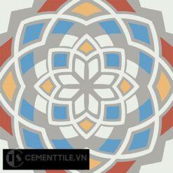 Gạch bông CTS 146.3(4-5-6-8-9) - 4 viên - Encaustic cement tile CTS 146.3(4-5-6-8-9)-4 tiles