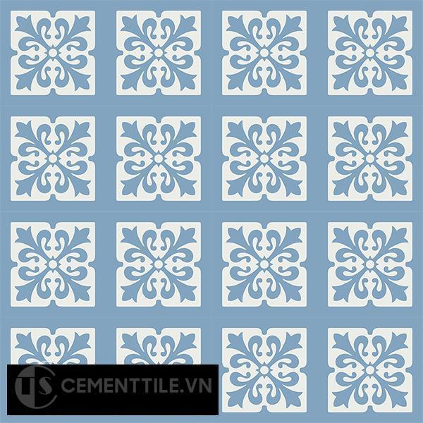 Gạch bông CTS 172.1(4-16) - 16 viên - Encaustic cement tile CTS 172.1(4-16)-16 tiles