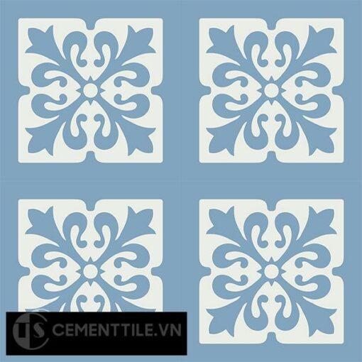 Gạch bông CTS 172.1(4-16) - 4 viên - Encaustic cement tile CTS 172.1(4-16)-4 tiles