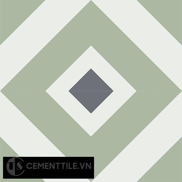 Gạch bông CTS 25.6(4-7-32) - 4 viên - Encaustic cement tile CTS 25.6(4-7-32)-4 tiles