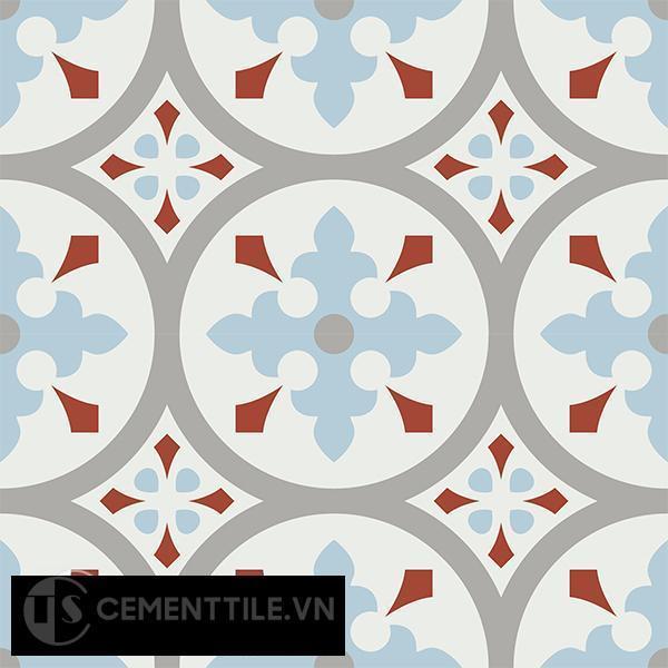 Gạch bông CTS 57.2(2-4-9-30) - 4 viên - Encaustic cement tile CTS 57.2(2-4-9-30)-4 tiles