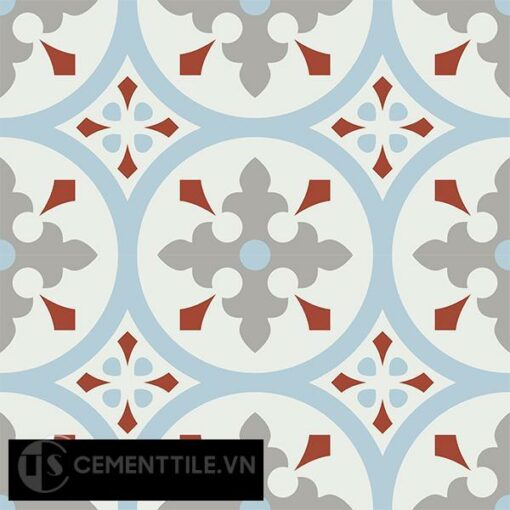 Gạch bông CTS 57.3(2-4-9-30) - 4 viên - Encaustic cement tile CTS 57.3(2-4-9-30)-4 tiles