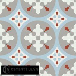 Gạch bông CTS 57.4(2-4-9-30) - 4 viên - Encaustic cement tile CTS 57.4(2-4-9-30)-4 tiles