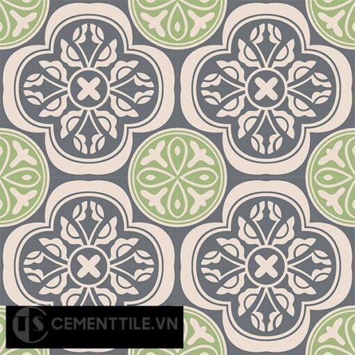 Gạch bông CTS 63.2(27-32-117) - 16 viên - Encaustic cement tile CTS 63.2(27-32-117)-16 tiles