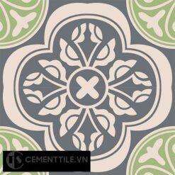 Gạch bông CTS 63.2(27-32-117) - 4 viên - Encaustic cement tile CTS 63.2(27-32-117)-4 tiles
