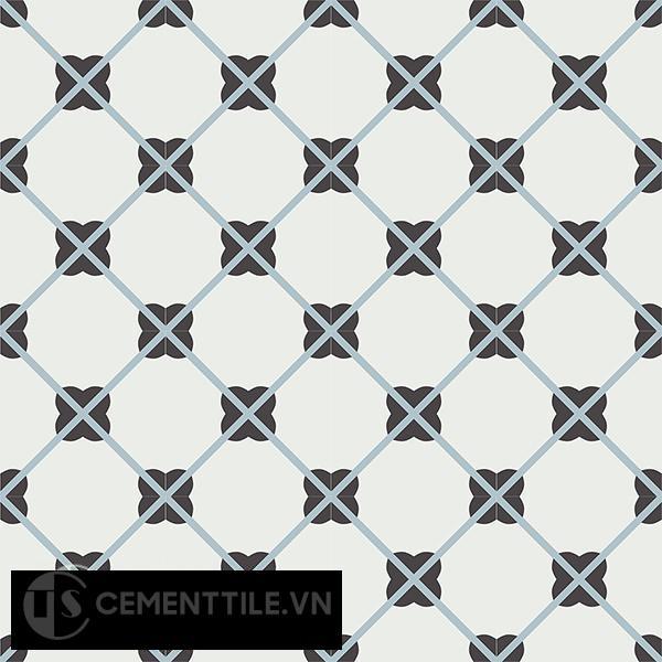 Gạch bông CTS 66.2(4-13-29) - 16 viên - Encaustic cement tile CTS 66.2(4-13-29)-16 tiles