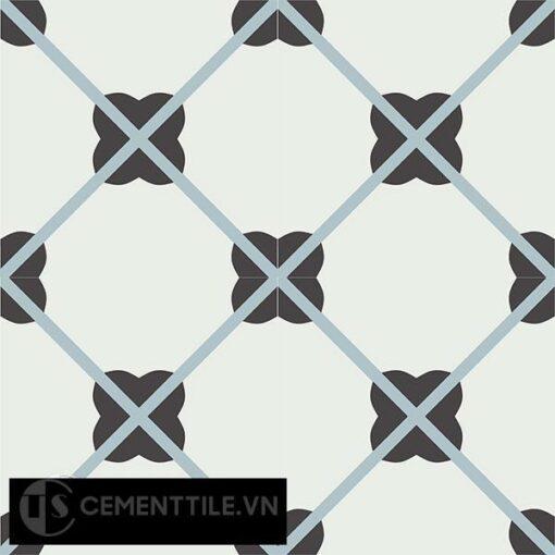 Gạch bông CTS 66.2(4-13-29) - 4 viên - Encaustic cement tile CTS 66.2(4-13-29)-4 tiles