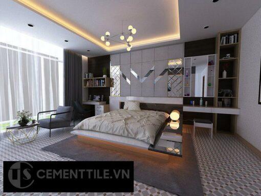 Gạch bông cts 68.2 trang trí phòng ngủ