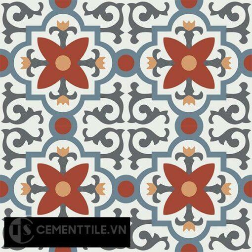 Gạch bông CTS 76.2(4-17-19-30-34) - 4 viên - Encaustic cement tile CTS 76.2(4-17-19-30-34)-4 tiles