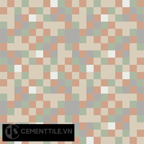 Gạch bông CTS 81.1(4-7-9-11-12) - 16 viên - Encaustic cement tile CTS 81.1(4-7-9-11-12)-16 tiles