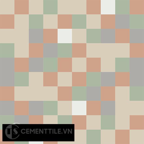 Gạch bông CTS 81.1(4-7-9-11-12) - 4 viên - Encaustic cement tile CTS 81.1(4-7-9-11-12)-4 tiles