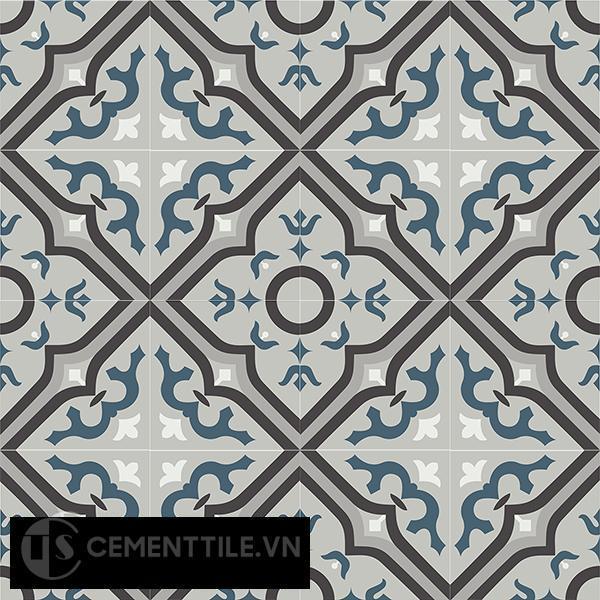 Gạch bông CTS 87.1(1-4-9-13-43) - 16 viên - Encaustic cement tile CTS 87.1(1-4-9-13-43)-16 tiles