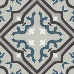 Gạch bông CTS 87.1(1-4-9-13-43) - 4 viên - Encaustic cement tile CTS 87.1(1-4-9-13-43)-4 tiles