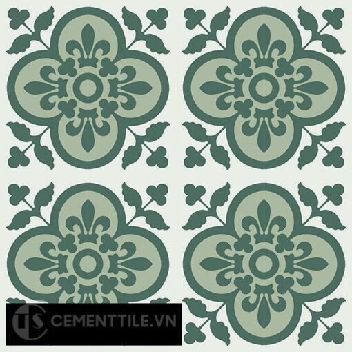 Gạch bông CTS 98.1(4-7-40) - 16 viên - Encaustic cement tile CTS 98.1(4-7-40)-16 tiles