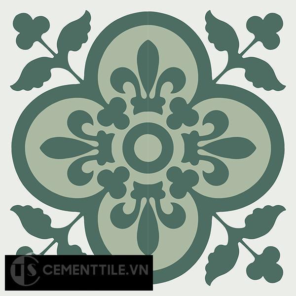 Gạch bông CTS 98.1(4-7-40) - 4 viên - Encaustic cement tile CTS 98.1(4-7-40)-4 tiles
