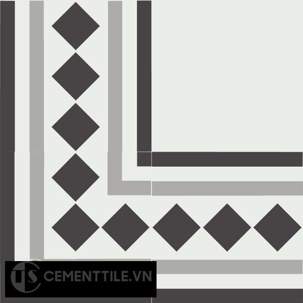 Gạch bông CTS BC106.3(4-9-13) - Encaustic cement tile CTS BC106.3(4-9-13)