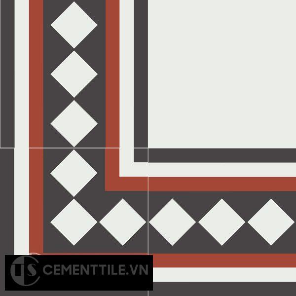 Gạch bông CTS BC106.7(4-13-30) - Encaustic cement tile CTS BC106.7(4-13-30)