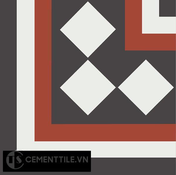 Gạch bông CTS C106.7(4-13-30) - Encaustic cement tile CTS C106.7(4-13-30)
