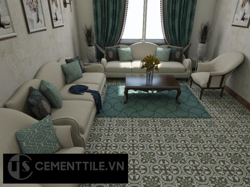 Gạch bông cts 184.1 trang trí phòng khách