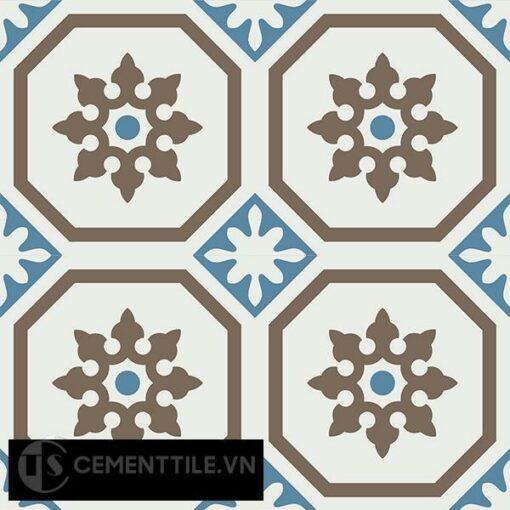 Gạch bông CTS 182.1(4-10-28) - 4 viên - Encaustic cement tile CTS 182.1(4-10-28)-4 tiles