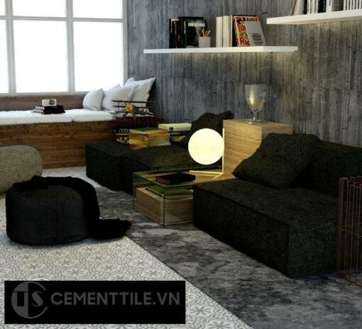 Gạch bông cts 1.37 lát nền phòng khách
