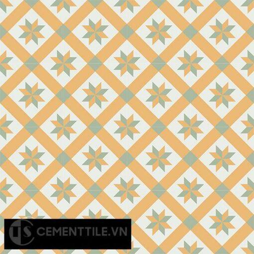 Gạch bông CTS 11.4(4-6-7) - 16 viên - Encaustic cement tile CTS 11.4(4-6-7)-16 tiles