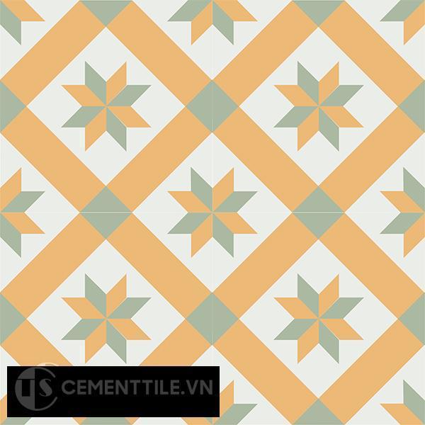 Gạch bông CTS 11.4(4-6-7) - 4 viên - Encaustic cement tile CTS 11.4(4-6-7)-4 tiles