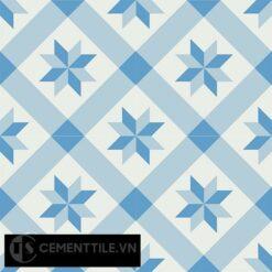 Gạch bông CTS 11.5(2-4-8) - 4 viên - Encaustic cement tile CTS 11.5(2-4-8)-4 tiles