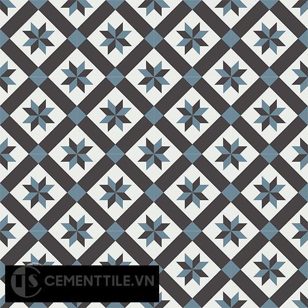 Gạch bông CTS 11.6(4-13-47) - 16 viên - Encaustic cement tile CTS 11.6(4-13-47)-16 tiles